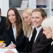 Stock Photo: Group of businesspeople in meeting