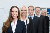 Group of successful young business people — Stock Photo