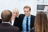 Confident young business team — Stock Photo