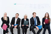 Group of applicants for a vacant post — Stock Photo