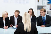 Human resources team conducting an interview — Stock Photo