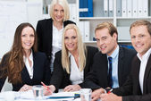 Happy successful business team — Stock Photo
