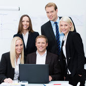Dedicated professional business team — Stock Photo