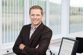 Líder empresarial seguro — Foto de Stock
