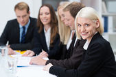 Beautiful smiling blond business woman — Stock Photo