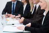 Businesswoman in a meeting — Stock Photo