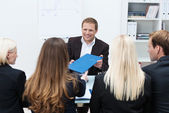 Businessman in a corporate interview — Stock Photo