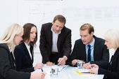 Business team in a meeting — Stock Photo