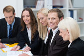 Group of businesspeople in a meeting — Stock Photo
