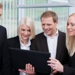 Foto Stock: Professional business team using a laptop