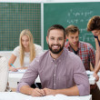Happy successful male student — Stock Photo