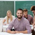 Happy successful male student — Stock Photo