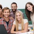 Friendly smiling group of students — Stock Photo #31316993