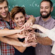 Teamwork and collaboration amongst students — Stock Photo #31317247