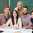 grupp motiverade studenter — Stockfoto