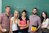 Group of young multiethnic students — Stock Photo