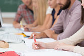Group of people in a meeting or class — Stock Photo