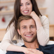 Loving handsome young couple — Stock Photo