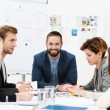 Stock Photo: Group of business people in meeting