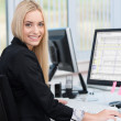 Smiling confident young business woman — Stock Photo
