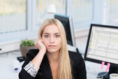 Bored serious businesswoman — Stock Photo