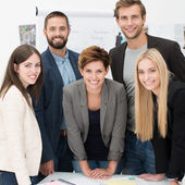 Friendly successful business team — Stock Photo