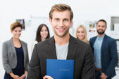 Smiling young male job applicant — Stock Photo