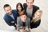 Group of business people from above — Stock Photo