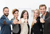 Motivated successful business team — Stock Photo