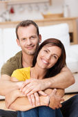 Portrait of a happy loving adult couple — Stock Photo