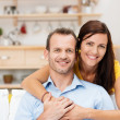 Happy contented young couple — Stock Photo