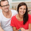 Confident friendly young couple — Stock Photo #34575493