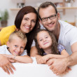 Stock Photo: Loving parents with their son and daughter