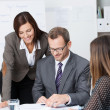 Team of businesspeople in a meeting — Stock Photo