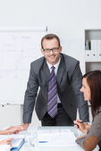 Confident friendly business manager — Stock Photo
