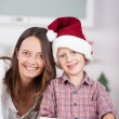 Happy little boy baking with his Mum — Stock Photo