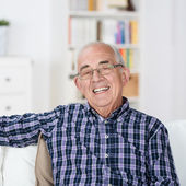 Happy senior man with a beaming smile — Stock Photo