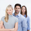 Successful confident business team — Stock Photo