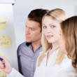 Young female business team leader — Stock Photo