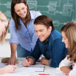 Group effort in the classroom — Stock Photo