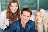 Handsome young male college student — Stock Photo