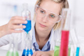 Attractive young female laboratory technician — Stock Photo