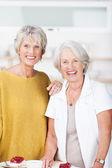 Duas belas mulheres sênior a sorrir — Fotografia Stock