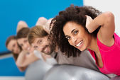 Beautiful African American woman working out — Stock Photo