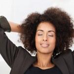 African American businesswoman taking a break — Stock Photo #39375695