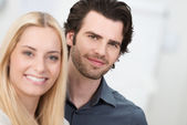 Portrait of an attractive couple — Stock Photo