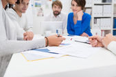 Business meeting in progress in the office — Stock Photo