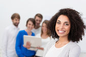 Motivated African American businesswoman — Stock Photo