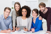 Multiethnic business team — Stock Photo