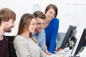Young dedicated business team — Foto Stock